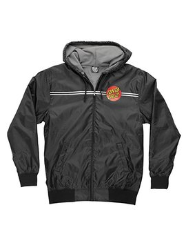 Santa Cruz Mens Dot Hooded Windbreaker Jacket by Santa Cruz