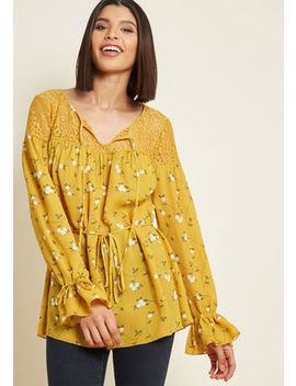Revel In Romance Long Sleeve Top Revel In Romance Long Sleeve Top by Modcloth