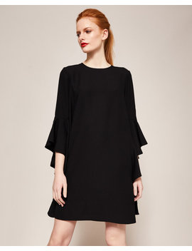 Waterfall Sleeved Dress by Ted Baker