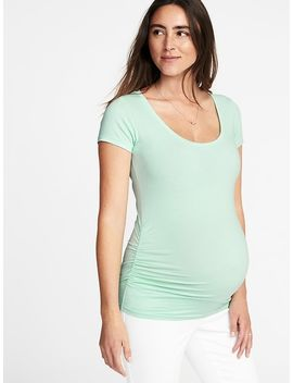 Maternity Fitted Scoop Neck Tee by Old Navy