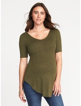 Maternity Plush Knit Hi Lo Tunic Tee by Old Navy