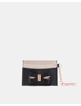 Leather Bow Card Holder With Chain by Ted Baker