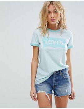 Levi's   T Shirt à Logo Avec Manches Chauve Souris Et Bordures Contrastées by Levi's
