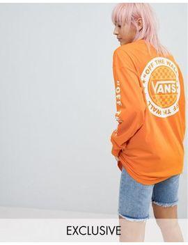 Vans   Exclusivité Asos   T Shirt Oversize à Manches Longues   Orange by Vans