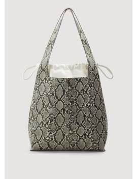 Shopper Tasche Im Schlangen Look by Mango
