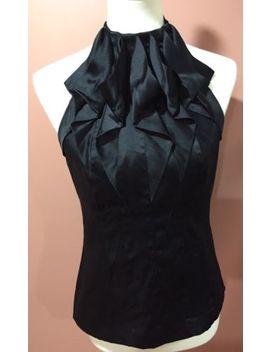 Karen Millen England Silk Blend Black Sleeveless Blouse Top Size 8 Us by Karen Millen