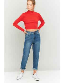 Bdg Dark Vintage Wash Mom Jeans by Urban Outfitters