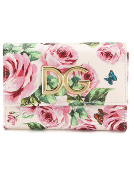 Rose Print Continental Wallet by Dolce & Gabbana