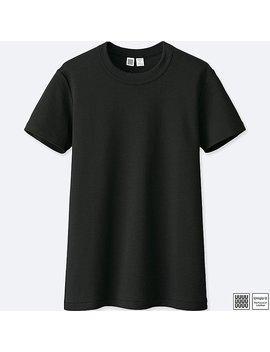 Women Uniqlo U 100 Percents Cotton Crew Neck Short Sleeve T Shirt by Uniqlo
