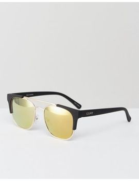 Quay Australia High And Dry Sunglasses In Gold by Quay Australia