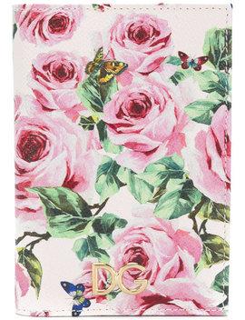 Rose Print Billfold Wallet by Dolce & Gabbana