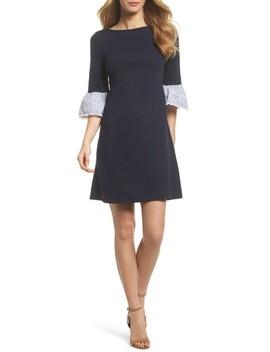 Flare Cuff Shift Dress by Eliza J