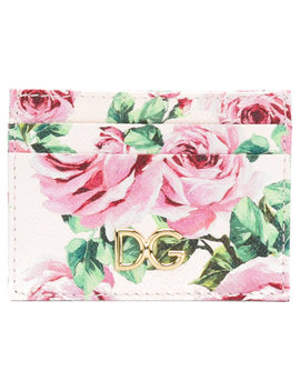 Floral Print Card Holder by Dolce & Gabbana