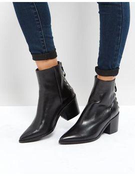 Carvela – Slight – Ankle Boots Aus Leder Mit Absatz Und Reißverschluss Hinten by Carvela