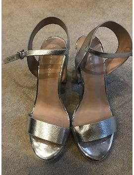 Beand New Size 4 Silver Metalic New Look Platform Block Heels by New Look