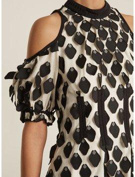 Calista Open Shoulder Fil Coupé Midi Dress by Self Portrait