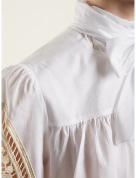 Crotchet Embellished Cotton Blouse by See By Chloé