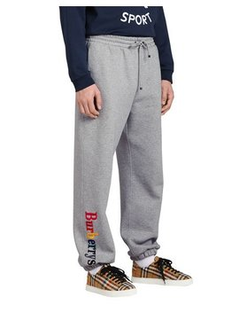 Rainbow Embroidered Logo Cotton Sweatpants by Burberry