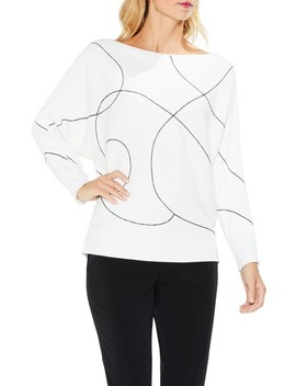 Ink Swirl Ribbed Sweater by Vince Camuto