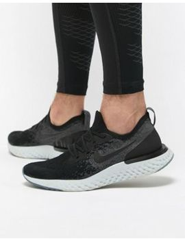 Nike Running Epic React Flyknit Trainers In Black Aq0067 001 by Nike