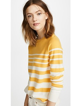 Increasing Stripe Cashmere Sweater by Chinti And Parker
