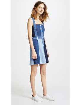 Patchwork A Line Dress by 7 For All Mankind