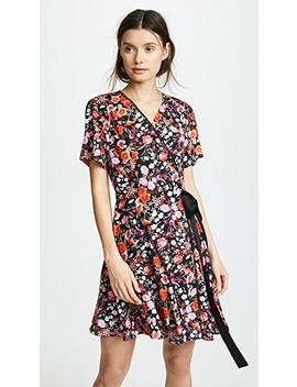 Paneled Wrap Dress by Goen.J