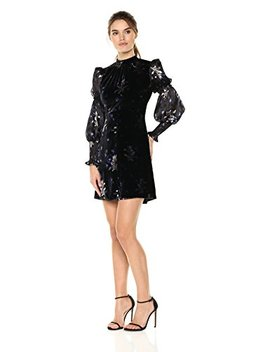 Rebecca Taylor Women's Long Sleeve Violet Velvet Dress by Rebecca Taylor
