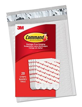 Command Large Refill Strips, White, 20 Strips, (Gp023 20 Na)   Easy To Open Packaging by Command