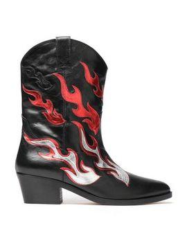 Appliquéd Leather Boots by Chiara Ferragni