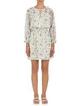 Floral Plissé Chiffon Blouson Dress by Barneys New York