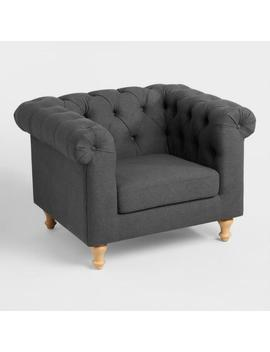 Charcoal Gray Quentin Chesterfield Chair by World Market