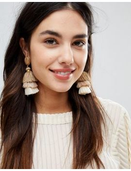 Design B London Tassel Drop Statement Earrings by Design B