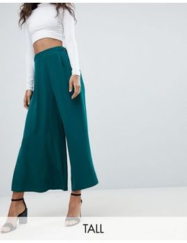 Asos Design Tall Soft Culotte With Metal Detail Waist by Asos Design