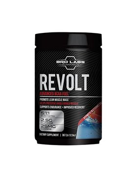 Workout Recovery Bcaa Fuel   Revolt   Preserve Muscle Mass, Reduce Fatigue, Improve Weight Loss (5g Leucine + Glutamine + Caffeine) By Bro Labs & Brandon Carter   12.9 Oz... by Bro Labs