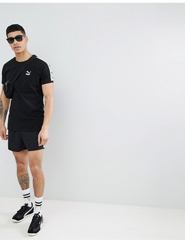Puma T Shirt With Taped Side Stripe In Black Exclusive To Asos by Puma