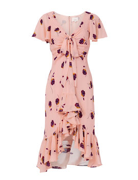Mateo Silk Floral Print Dress by Cinq à Sept