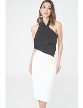 Monochrome Midi Dress by Lavish Alice