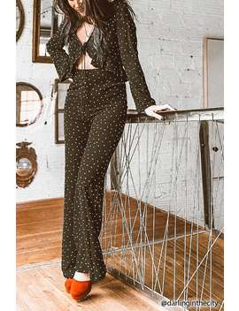 Cutout Polka Dot Jumpsuit by F21 Contemporary