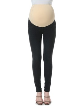 Sadie Over The Belly Maternity Denim Leggings by Kimi And Kai