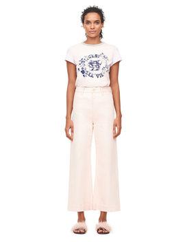 La Vie Garment DyedWide Leg Jean by Rebecca Taylor