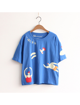 2017 New Summer Tops O Neck Harajuku Cute Casual Women Funny Fashion Cartoon Printed Tshirts Cotton Best Friends Tee by Z&Y Colourful Life
