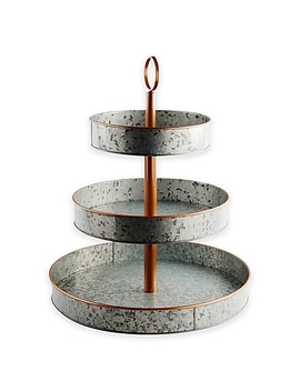 Heritage Home Galvanized Metal And Copper 3 Tier Serving Stand by Bed Bath And Beyond