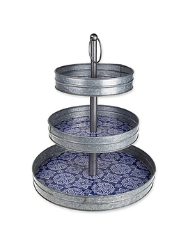 Galvanized Steel 3 Tier Stand by Bed Bath And Beyond