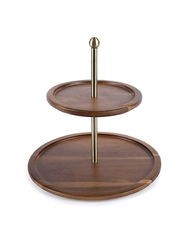 Acacia Wood 2 Tier Serving Platter by Bed Bath And Beyond