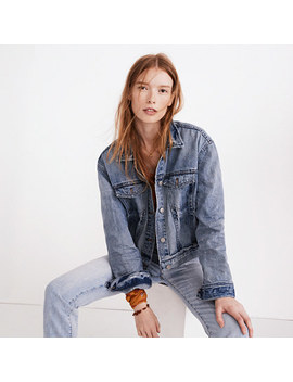 The Boxy Crop Jean Jacket In Woodcourt Wash by Madewell