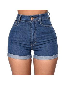 Women Summer Slim Denim Pants Blue Jeans Shorts by Unbranded