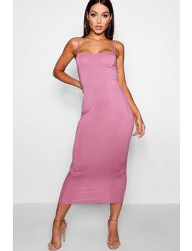 Belle Jersey Square Neck Midaxi Dress by Boohoo