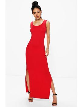 Quinn Sleeveless With Side Splits Maxi Dress by Boohoo