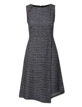 Wrap Front Tweed Dress by Banana Repbulic